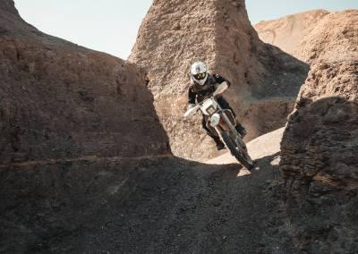 Riding down a chute