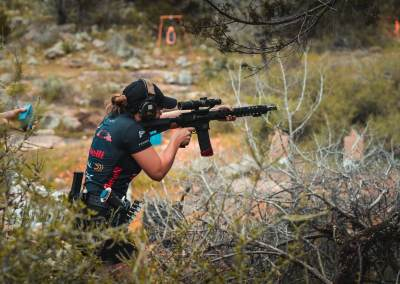 Rifle stage action