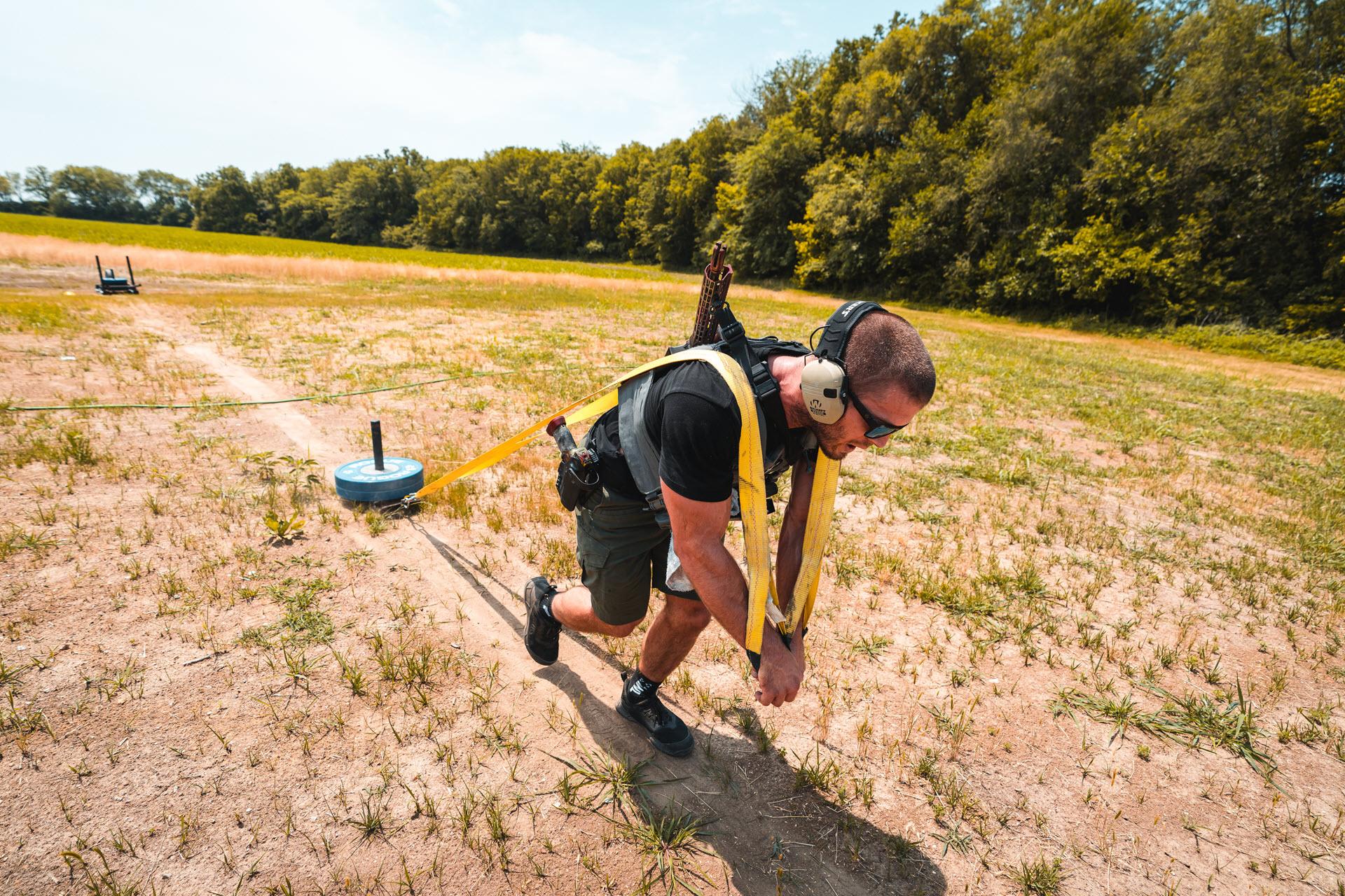 Jacob Heppner Pulling a Sled